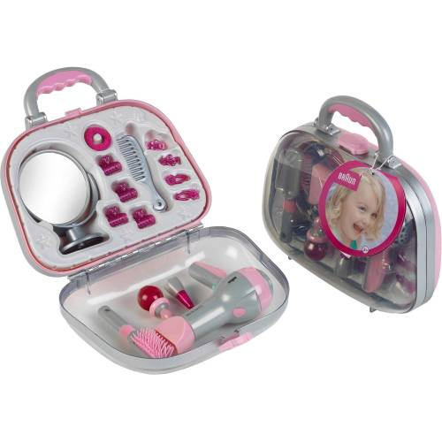 Klein Spielzeug-Frisierkoffer »Koffer mit Braun Fön und Zubehör«