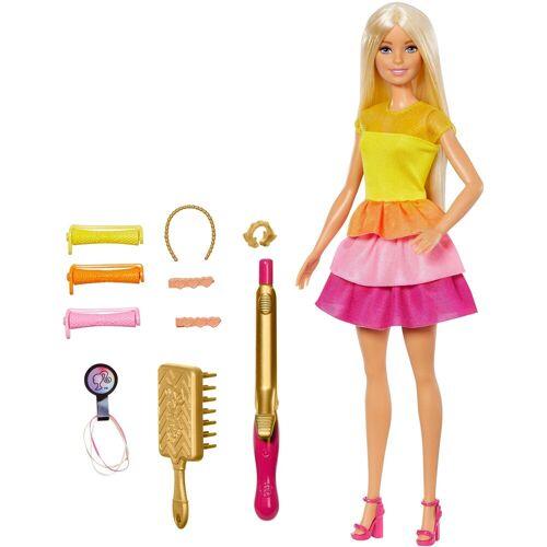 Mattel Anziehpuppe »Barbie Locken-Style Puppe, blond«, bunt