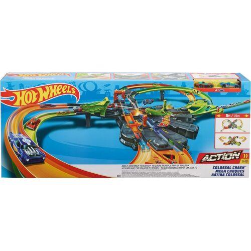 Hot Wheels Autorennbahn »Super-Mega Crash«, inklusive 2 Spielzeugautos