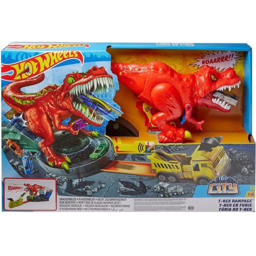 Hot Wheels Spiel-Parkgarage »T-Rex Attacke motorisiertes Spielset«, inkl. 1 Spielzeugauto