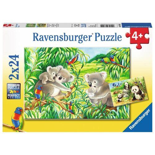 Ravensburger Puzzle »Süße Koalas Und Pandas«, 48 Puzzleteile