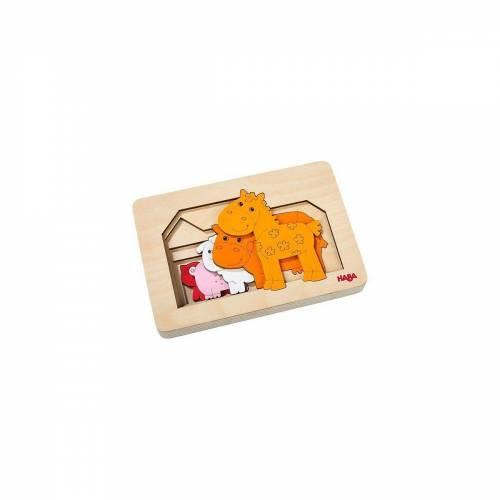 Haba Steckpuzzle »Bauernhoftiere (Holzpuzzle)«, Puzzleteile
