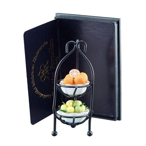 Reutter Porzellan Puppenhaus »Miniaturen - Obstetagere Obstkorb 1.497/6 Deko für Puppenstube«