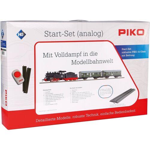 PIKO Modelleisenbahn Startpaket »Dampflok mit Personenzug, (57112)«, Spur H0