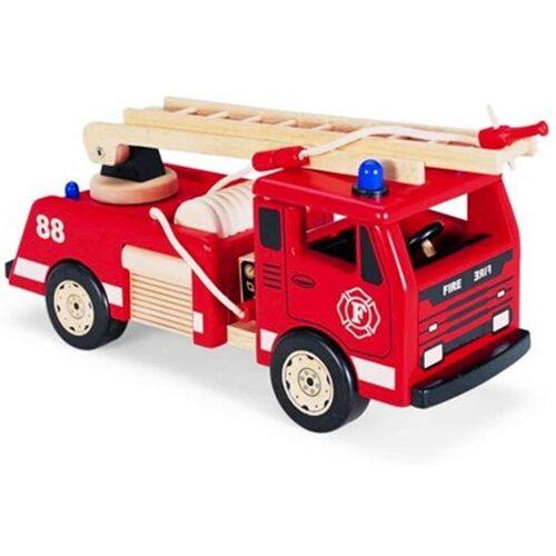 LeNoSa Spielzeug-Feuerwehr »Großes 45cm Kinder Feuerwehrauto aus Holz vom Gummibaum«