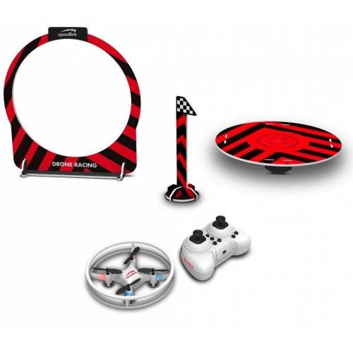 Speedlink RC-Quadrocopter »Racing Drohne Game Set mit Fernsteuerung + Ladeplatz + Zieltor Mini RC Drone Quadrocopter Kinder Anfänger Pack Spielzeug« (Enn-Set, Komplettset), LED Beleuchtung