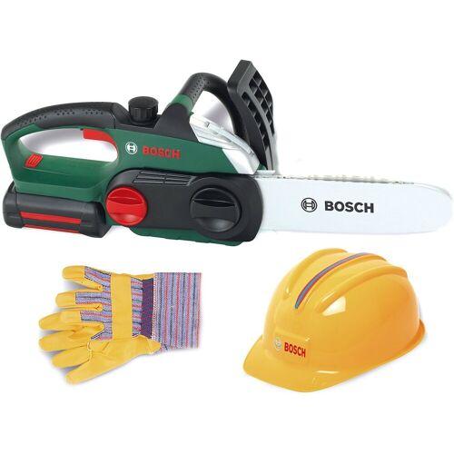 Klein Spielwerkzeug »Bosch Kettensäge mit Helm und Handschuhen«