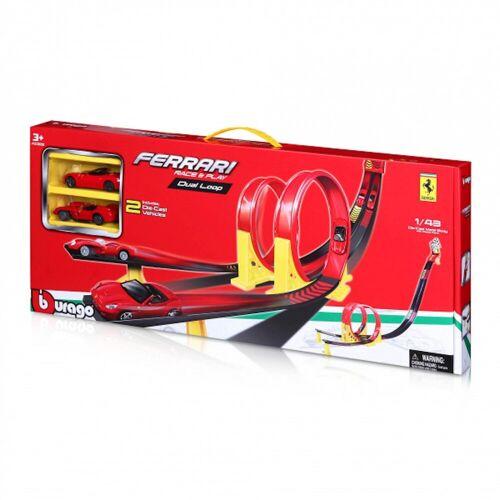 Bburago Spielzeug-Auto »Ferrari Dual Loop inkl. 2 Autos«, Doppel-Looping