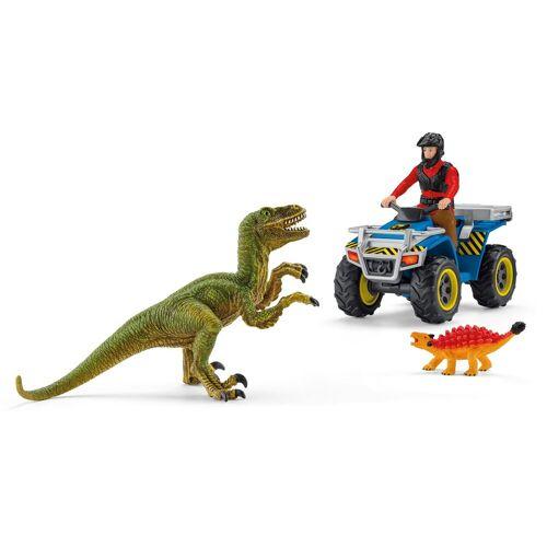 Schleich® Spielzeug-Quad »Dinosaurs, Flucht auf Quad vor Velociraptor (41466)«, (Set)