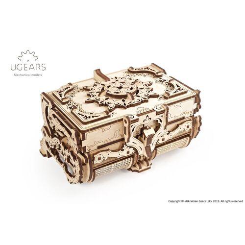 UGEARS 3D-Puzzle »Holz 3D-Puzzle Modellbausatz ANTIK BOX«, 185 Puzzleteile