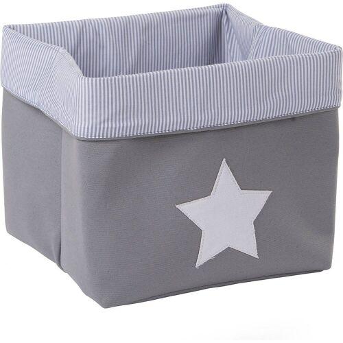 CHILDHOME Aufbewahrungsbox »Korb Canvas, grau, 32x32x29 cm«