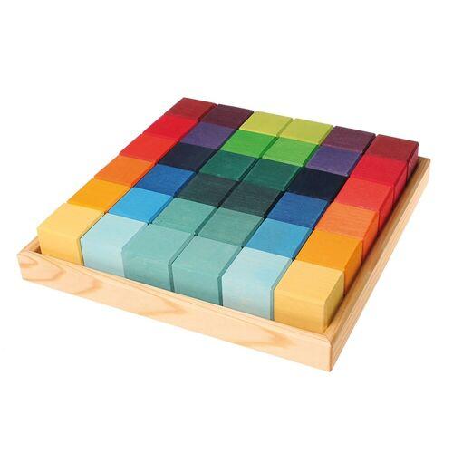 GRIMM´S Spiel und Holz Design Lernspielzeug, Viereck 36 Würfel