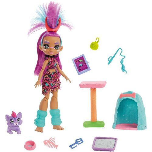 Mattel Anziehpuppe »Cave Club Katzenspaß mit Roaralai Spielset & Puppe«