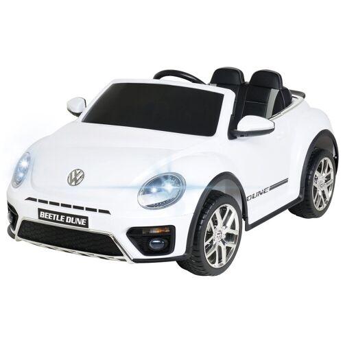 Actionbikes Motors Spielzeug-Auto »Kinder Elektroauto VW Beetle«, inkl. Fernbedienung, Weiß