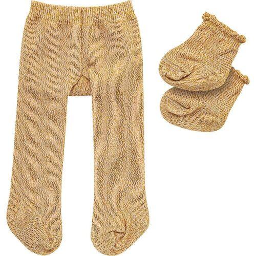 Heless Puppenkleidung »Puppen-Strumpfhose mit Söckchen gold, Gr. 35-45 cm«