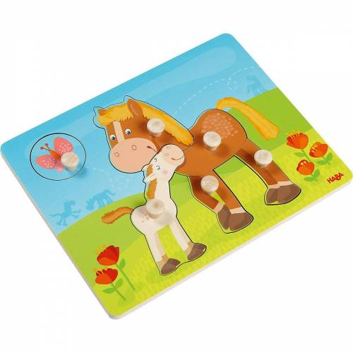 Haba Steckpuzzle »303771 Greifpuzzle Pferdefamilie«, Puzzleteile