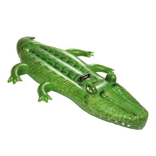 Bestway Schwimmtier »41011 Crocodile Rider aufblasbares Schwimmtier Krokodil Luftmatratze«, Farbe: Grün