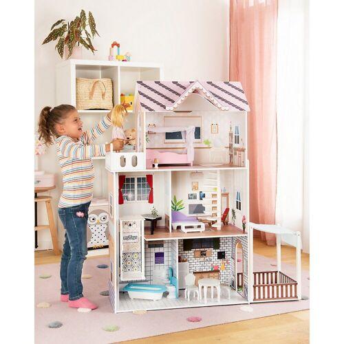 myToys Puppenhaus »Puppenhaus mit Garten und Möbel«