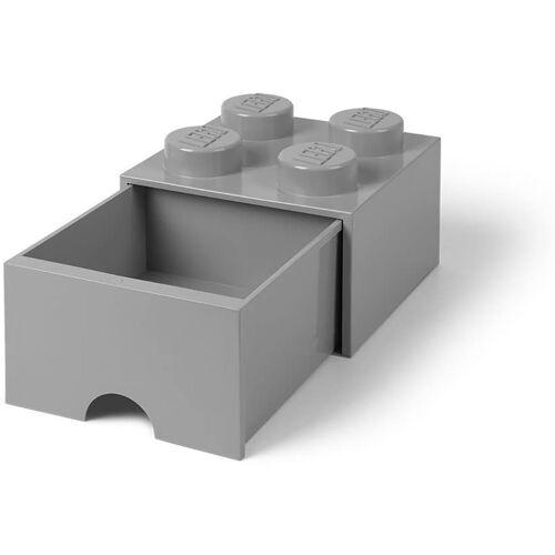 Room Copenhagen Aufbewahrungsbox »Lego - Aufbewahrungsbox im Legostein Design mit einer Schublade - grau«