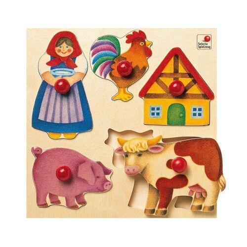Selecta Puzzle »Bauernhof 5-tlg. 20 cm ab 24 Monaten«, 5 Puzzleteile