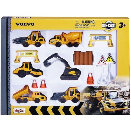 """Maisto® Spielzeug-Auto »Volvo Baufahrzeuge 8cm """"Play-Set"""" mit 6 Fahrzeugen«"""