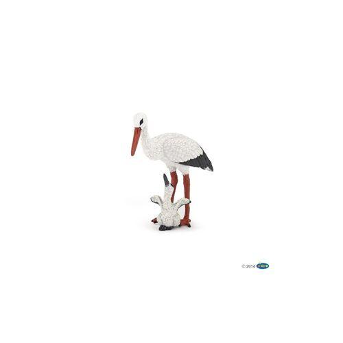 papo Spielfigur »Storch mit Babystorch«