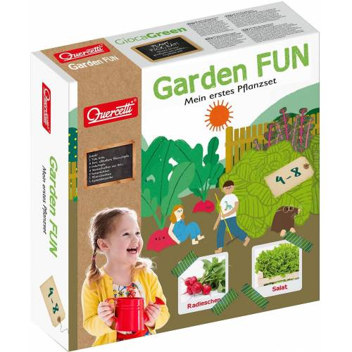 Quercetti Kinder-Gartenset »Garden FUN Pflanzset Radieschen/Salat«
