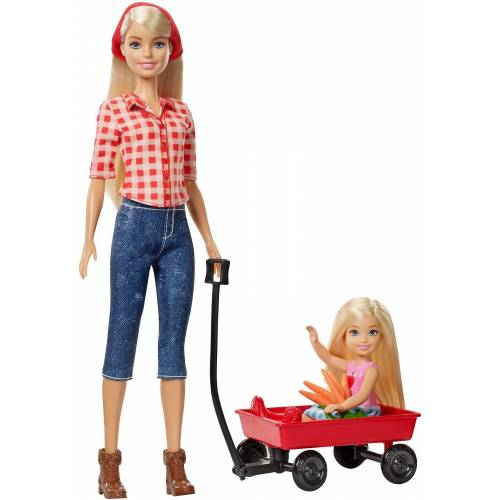 Mattel Spielfigur »Barbie Farm Barbie + Chelsea Puppen«