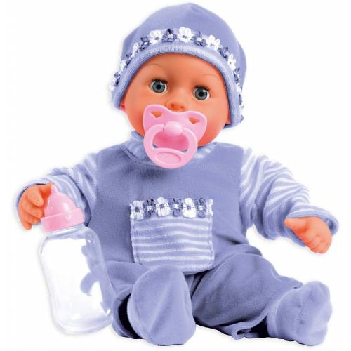 Bayer Babypuppe »Babypuppe First words baby, lila, 38 cm«