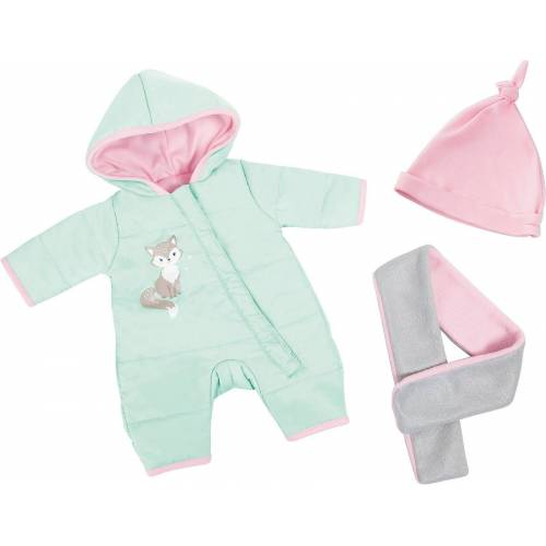MyToys-COLLECTION Puppenkleidung »Puppenkleidung-Set Winter türkis/rosa/grau, 3 tlg.«