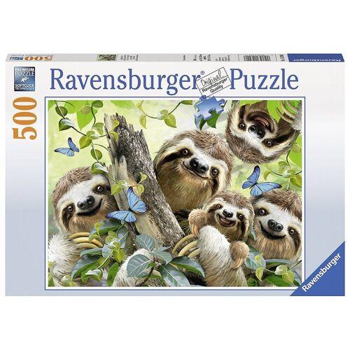 Ravensburger Puzzle »Puzzle 500 Teile, 49x36 cm, Faultier Selfie«, Puzzleteile