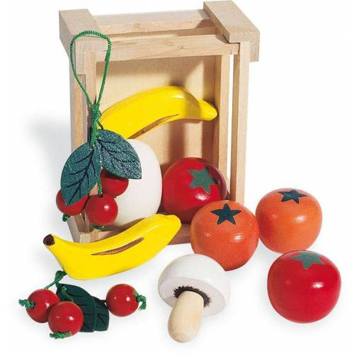 Pinolino® Kaufladensortiment »Kiste mit Obst«, (11-tlg)