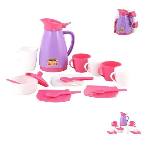 Polesie Spielgeschirr »Spielzeug Geschirr 40626, 16-teiliges Kaffee-Set«, Tassen, Besteck