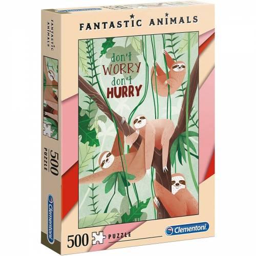 Clementoni® Puzzle »Puzzle 500 Teile Fantastic Animals - Faultiere«, Puzzleteile