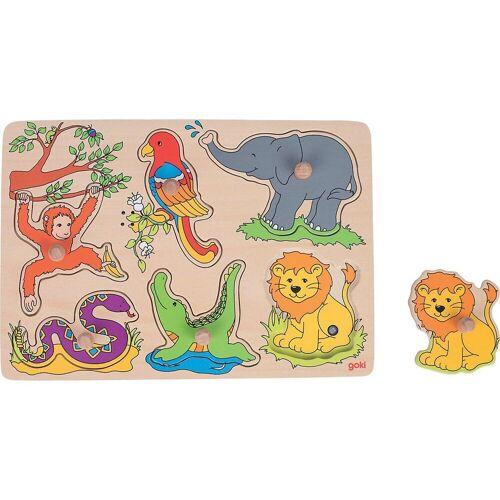 goki Steckpuzzle »Soundpuzzle Zootiere, mit Tierstimmen«, Puzzleteile