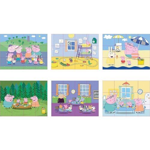 Eichhorn Würfelpuzzle »Peppa Pig Würfelpuzzle, 12 Teile«, Puzzleteile