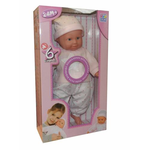 Happy People Babypuppe, Babypuppe 40cm Puppe Funktion Sound Baby Puppe Spielzeug Mädchen