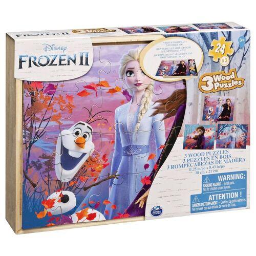 Spin Master Puzzle »6053001 - Disney Frozen II - Holzpuzzle, 3 x 24 Teile«, 3 Puzzleteile
