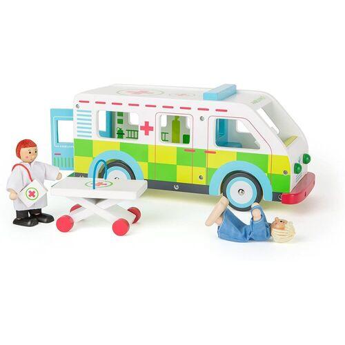 LeNoSa Spielzeug-Krankenwagen »Spielwelt aus Holz - Ambulanz Spielzeugauto ab 3 Jahren«