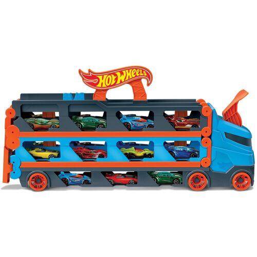 Hot Wheels Spielzeug-Transporter »2-in-1 Rennbahn-Transporter«, mit drei Fahrzeugen