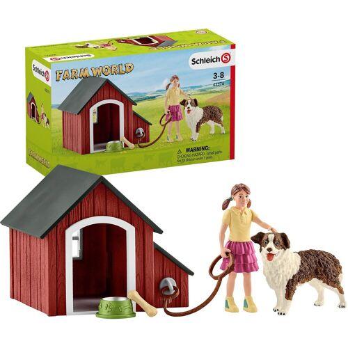 Schleich® Sammelfigur »Schleich 42376 Farm World: Hundehütte«
