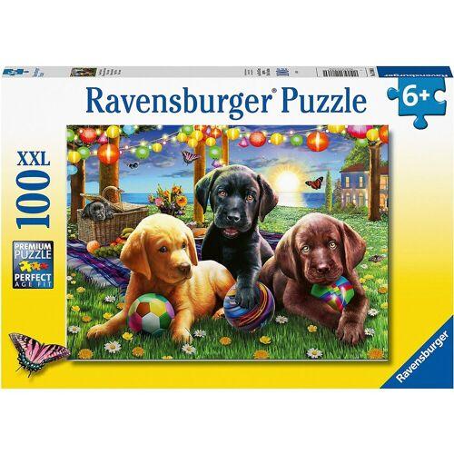 Ravensburger Puzzle »XXL-Puzzle Hunde Picknick, 100 Teile«, Puzzleteile