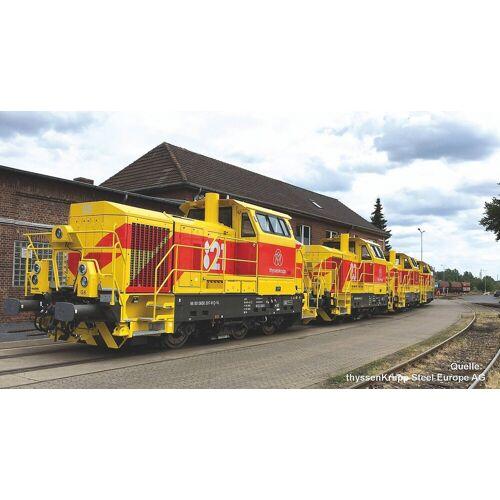 PIKO Modelleisenbahn-Set »Diesellok Vossloh G6 thyssenkrupp (MTU) VI«