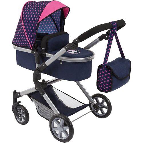 Bayer Puppenwagen »Puppenwagen City Neo, blau/pink mit Einhorn«