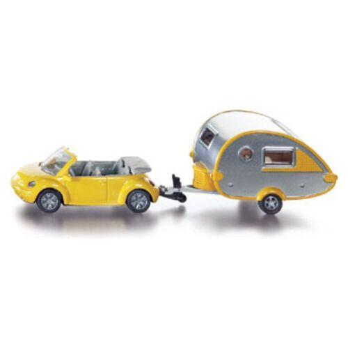 Siku Spielzeug-Auto »1629 PKW mit Wohnanhänger«