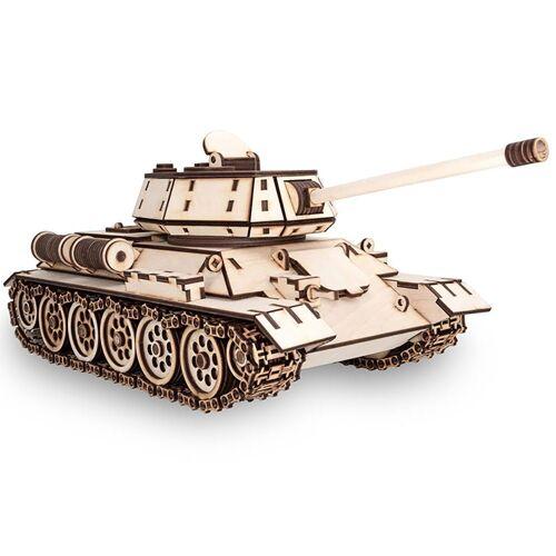 ECO Wood Art 3D-Puzzle »T-34 – Panzer – mechanischer Modellbausatz aus Holz«, Puzzleteile
