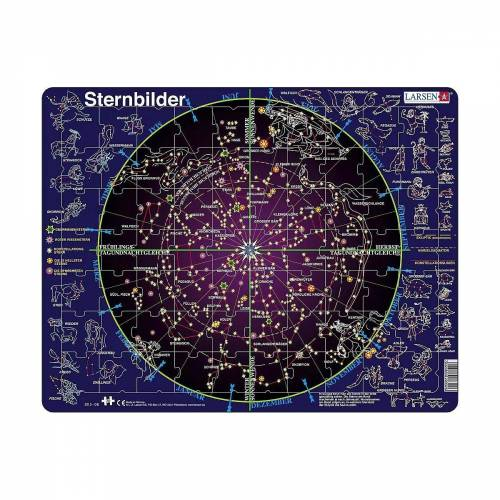 Larsen Puzzle »Rahmen-Puzzle, 70 Teile, 36x28 cm, Sternenbilder«, Puzzleteile