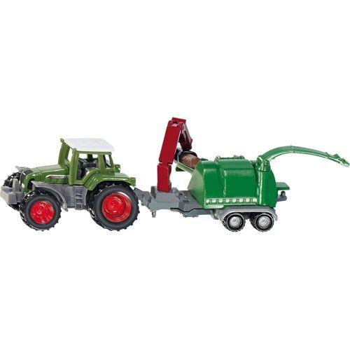 Siku Spielzeug-Auto »1675 Traktor mit Holzhäcksler«