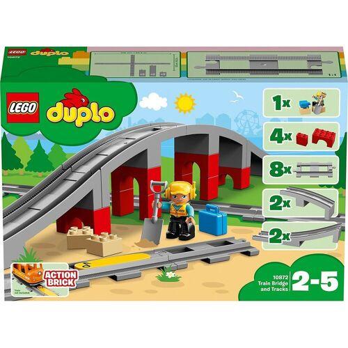 Lego Spielbausteine »DUPLO® 10872 Eisenbahnbrücke und Schienen«