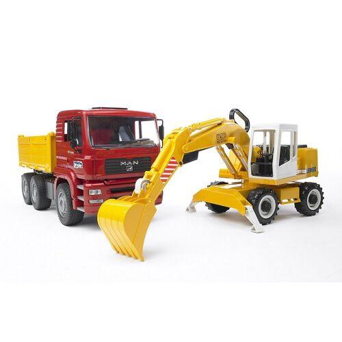 Bruder® Spielzeug-Auto »BRUDER 02751 MAN TGA Kipper und Schaufelbagger«